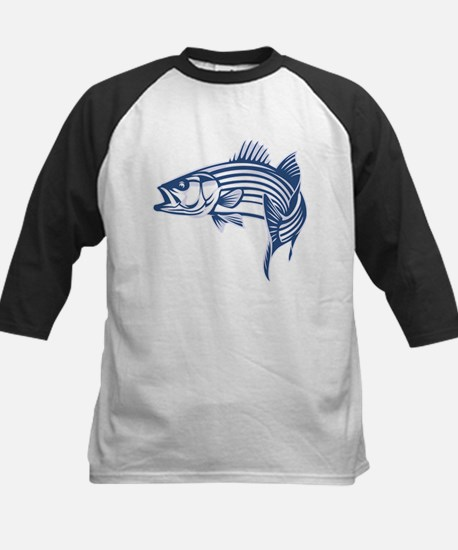 Graphic Striped Bass Kids Baseball Jersey