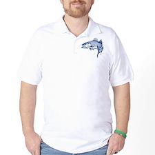 Graphic Striped Bass T-Shirt
