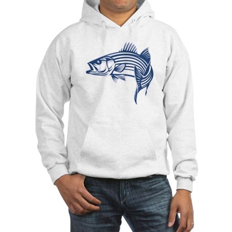 Graphic Striped Bass Hooded Sweatshirt