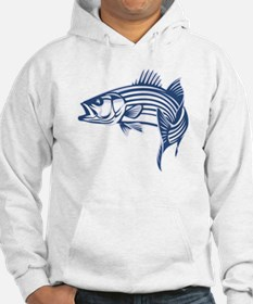 Graphic Striped Bass Hoodie