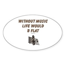 W/O Music Life's Flat Decal