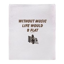 W/O Music Life's Flat Throw Blanket