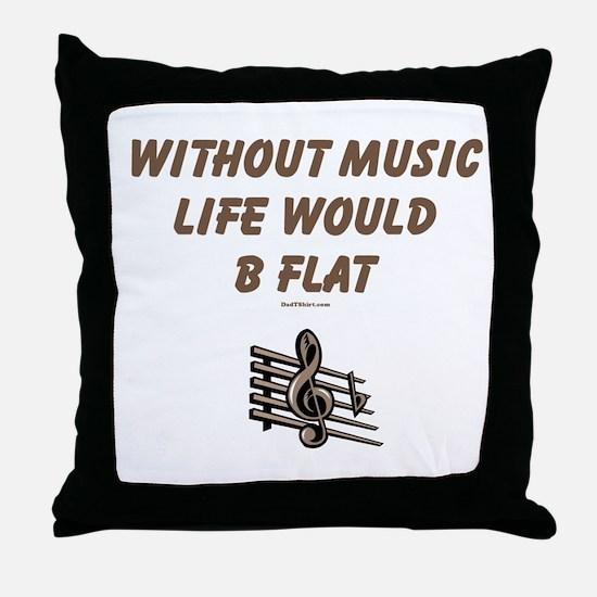W/O Music Life's Flat Throw Pillow
