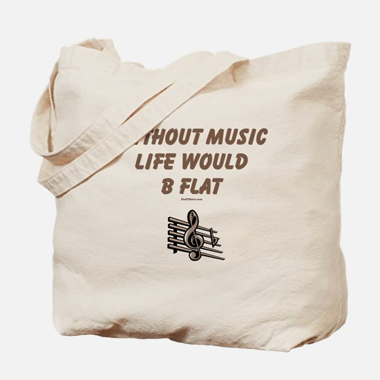 W/O Music Life's Flat Tote Bag