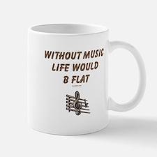 W/O Music Life's Flat Mug