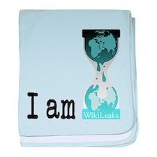 I Am WikiLeaks baby blanket
