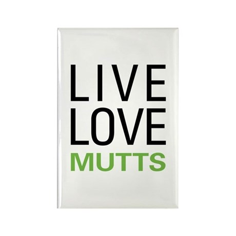 Live Love Mutts Rectangle Magnet (10 pack)