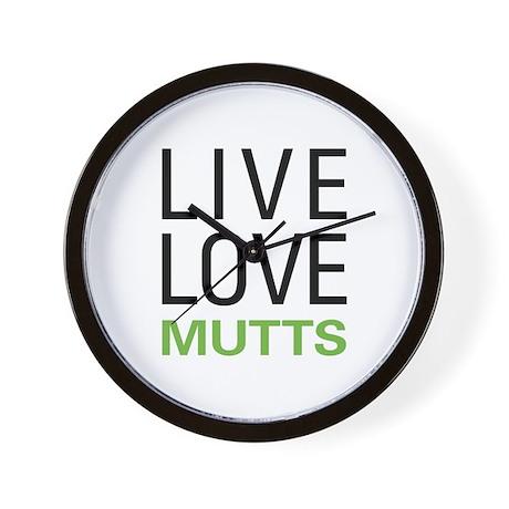 Live Love Mutts Wall Clock