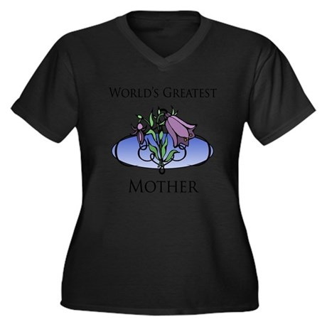 World's Greatest Mother (Floral) Women's Plus Size
