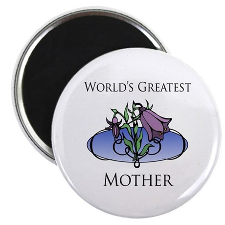 """World's Greatest Mother (Floral) 2.25"""" Magnet (100"""