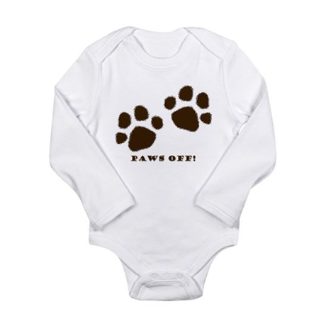 Paws Off! Long Sleeve Infant Bodysuit