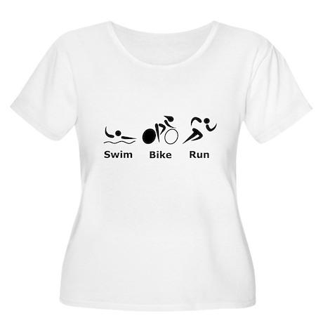Swim Bike Run Women's Plus Size Scoop Neck T-Shirt