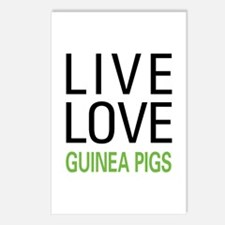 Live Love Guinea Pigs Postcards (Package of 8)
