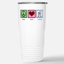 Peace Love Quilting Travel Mug