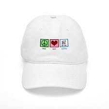 Peace Love Quilting Baseball Cap