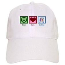 Peace Love Quilting Hat