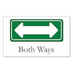Both Ways Rectangle Sticker