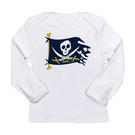 Pirate Flag Long Sleeve Infant T-Shirt