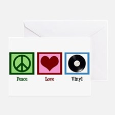 Peace Love Vinyl Greeting Card