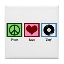 Peace Love Vinyl Tile Coaster