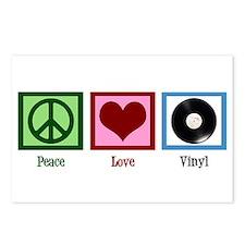 Peace Love Vinyl Postcards (Package of 8)