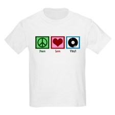 Peace Love Vinyl T-Shirt