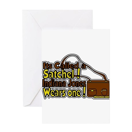 its a satchel! Greeting Card