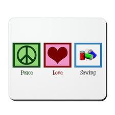 Peace Love Sewing Mousepad