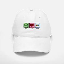 Peace Love Sewing Baseball Baseball Cap