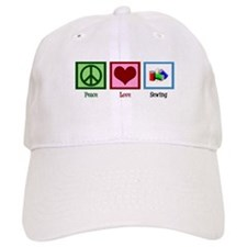 Peace Love Sewing Baseball Cap