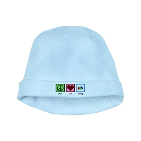 Peace Love Sewing baby hat