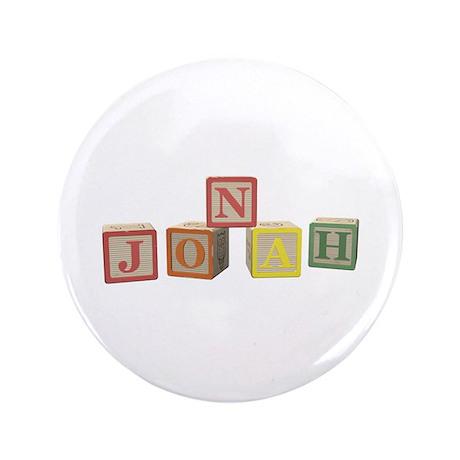 """Jonah Alphabet Block 3.5"""" Button"""