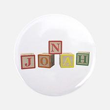 """Jonah Alphabet Block 3.5"""" Button (100 pack)"""
