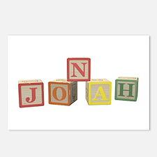 Jonah Alphabet Block Postcards (Package of 8)