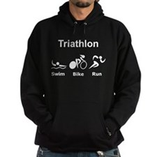 Triathlon Swim Bike Run Hoodie