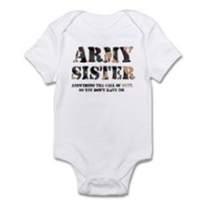 Army Sister Answering the Cal Infant Creeper