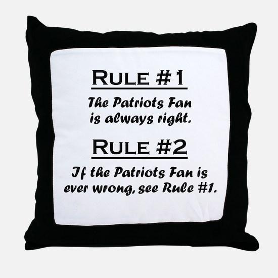 Patriots Throw Pillow