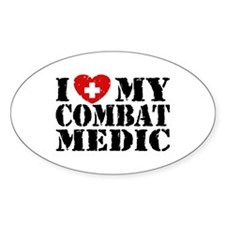 I Love My Combat Medic Decal