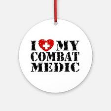 I Love My Combat Medic Ornament (Round)