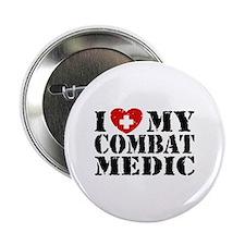 "I Love My Combat Medic 2.25"" Button"