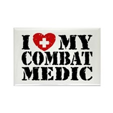 I Love My Combat Medic Rectangle Magnet