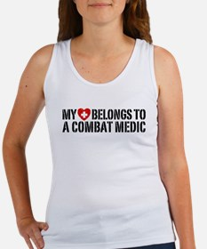 My Heart Belongs To Combat Medic Women's Tank Top
