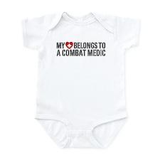 My Heart Belongs To Combat Medic Infant Bodysuit