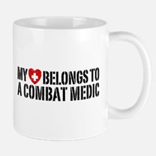 My Heart Belongs To Combat Medic Small Small Mug