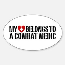 My Heart Belongs To Combat Medic Decal