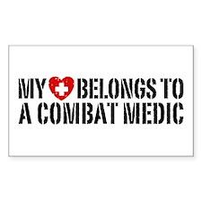 My Heart Belongs To Combat Medic Decal