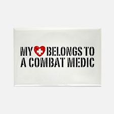 My Heart Belongs To Combat Medic Rectangle Magnet