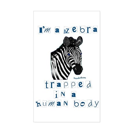 I'm a Zebra Rectangle Sticker