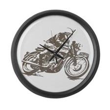 RETRO CAFE RACER Large Wall Clock