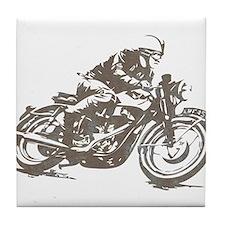 RETRO CAFE RACER Tile Coaster
